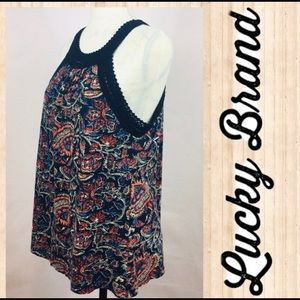 Lucky Brand Tops - Lucky Brand Sleeveless Floral print Tank Size L